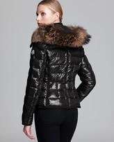 Moncler Down Coat - Celsie Short Quilted Fur Trim