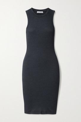 James Perse Ribbed Cotton-blend Jersey Mini Dress - Navy
