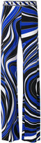 Emilio Pucci abstract print high-waisted trousers - women - Spandex/Elastane/Viscose - 38