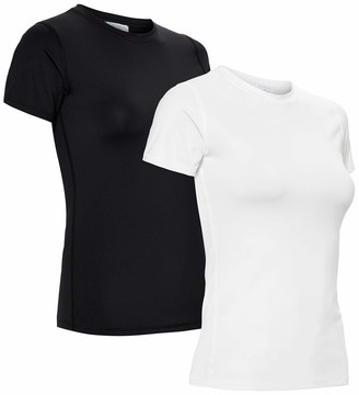 Aurique Amazon Brand Women's Sports Shirt Pack of 2