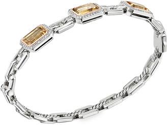David Yurman Novella 3-Stone Bracelet with Champagne Citrine and Diamonds