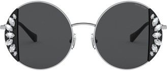 Miu Miu Noir round frame sunglasses