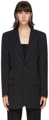 Kwaidan Editions Navy Wool Single-Breasted Blazer