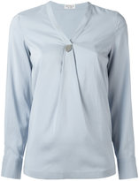 Brunello Cucinelli V-neck blouse - women - Silk/Spandex/Elastane - S