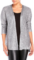 dknyc Sequin Knit Open Front Cardigan