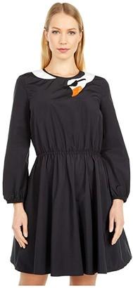 Boutique Moschino Swan Dress (Black) Women's Clothing