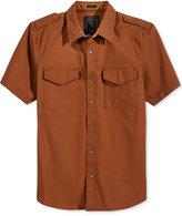 GUESS Men's Conway Cotton Poplin Shirt