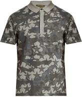 Valentino Camustars-print cotton-piqué polo shirt