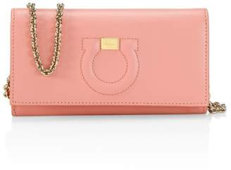 Salvatore Ferragamo Mini Gancini Leather Wallet-On-Chain