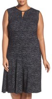 Nic+Zoe Plus Size Women's Tweed Jacquard Fit & Flare Dress