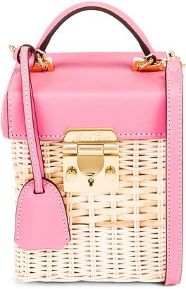 Mark Cross Grace Rattan Cube Bag in Flamingo | FWRD
