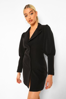 boohoo Plunge Front Tailored Blazer Dress