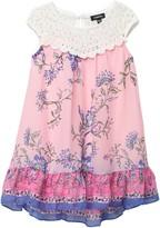 Zunie Floral Lace Float Dress (Toddler & Little Girls)