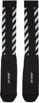 Off-White Black Diagonal Shiny Socks