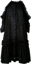 MSGM cut-out shoulders shift dress - women - Cotton/Polyester - 38