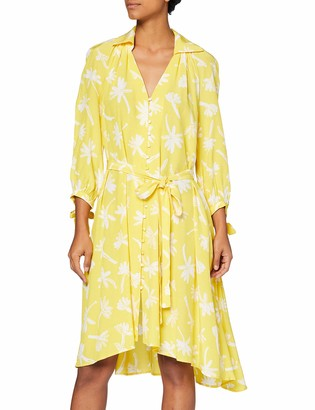 French Connection Women's ABITA Drape L/S Belted Dress Casual