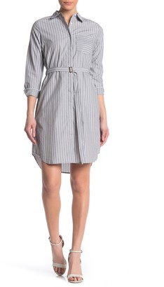 Calvin Klein Boyfriend Striped Short Shirt Dress