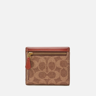 Coach New York Coach Women's Colorblock Signature Small Wallet - Tan Rust
