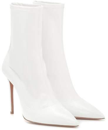 Aquazzura Zen 105 patent leather ankle boots