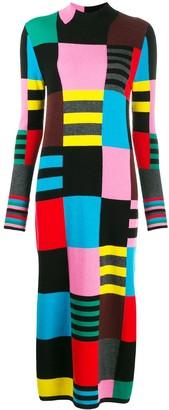 Parker Chinti & geometric intarsia knitted dress