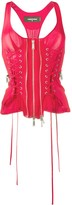 DSQUARED2 laced corset tank top