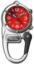 Dakota Mini Clip Microlight Carabiner, Silver and Red Pocket Watch 38590