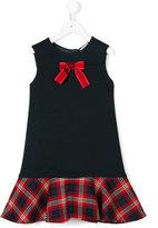 Dolce & Gabbana bow detail dress - kids - Viscose/Wool/Virgin Wool - 4 yrs