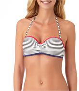 Arizona Stripe Bandeau Swimsuit Top-Juniors