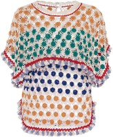 Isabel Marant Delma Crochet-Knit Cotton Top