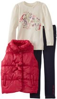 Calvin Klein Girls 2-6X Puffy Jacket With Jean And Tee