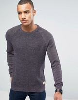 Esprit Crew Neck Jumper In Mixed Yarn