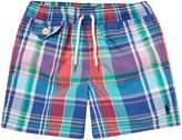 Polo Ralph Lauren Boys Small Pony Madras Swim Shorts