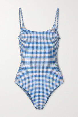 MARCIA Ancora Gingham Swimsuit - Blue