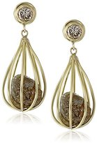 "Moritz Glik Kaleidoscope"" 18K Yellow Gold and Diamond Cage Earrings"