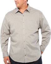 Van Heusen Long Sleeve Checked Button-Front Shirt-Big and Tall