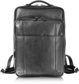 Giorgio Fedon British Black Leather Backpack