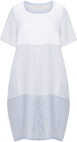Isolde Roth Plus Size Patchwork style linen dress