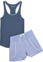 DKNY The Lineup Cotton-blend Pajama Set - Storm blue