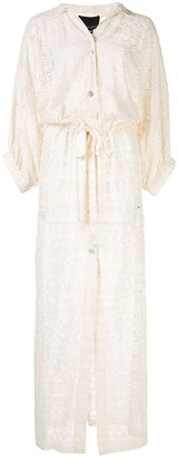 Cynthia Rowley Sirena sheer beach cover-up