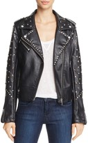 Blank NYC Blanknyc Studded Faux Leather Motorcycle Jacket - 100% Exclusive