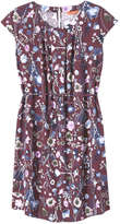 Joe Fresh Women's Pleat Neck Dress, Dark Burgundy (Size XL)