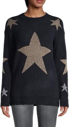 Love Token Ribbed Star-Print Sweater