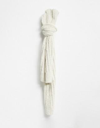 Free People Cloud rib scarf in white