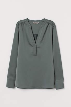 H&M V-neck satin blouse