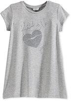 GUESS Glitter Heart Graphic T-Shirt, Big Girls (7-16)
