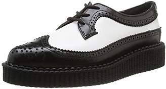 T.U.K. Pointed Creeper, Unisex Adults' Hi-Top Sneakers, Black(Black/White) - (37 EU)