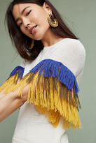 English Factory Fringed Sleeve Pullover