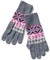 Gap Crazy fair isle merino wool blend gloves