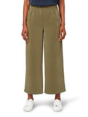 Tom Tailor Casual Women's Culotte Trouser, (Olive Night Green 13050), 20 (Size: )