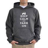 Eddany Keep Calm and Farm On Hoodie